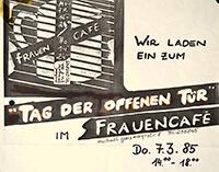 1985-03-07: Tag der offenen Tür im Frauencafe