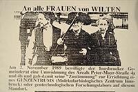 """1989-11-02: """"An alle Frauen von Wilten - gegen Genzentrum Innsbruck"""""""