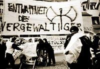 """198? Transparent """"Entwaffnet die Vergewaltiger"""""""