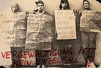 """198?: Plakat """"Vergewaltigung ist kein Einzelfall"""""""