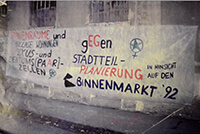 """1992: Transparent """"Für Frauenräume und gegen Stadtteilplanierung"""""""