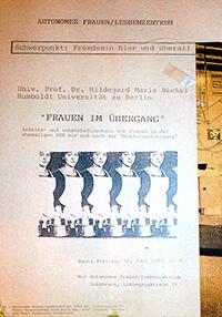1993-06-18: Frauen im Übergang