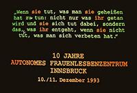 1993-12-10: 10 Jahre AFLZ Innsbruck