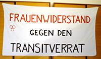 """199?: Transparent """"Frauenwiderstand gegen den Transitverrat"""""""