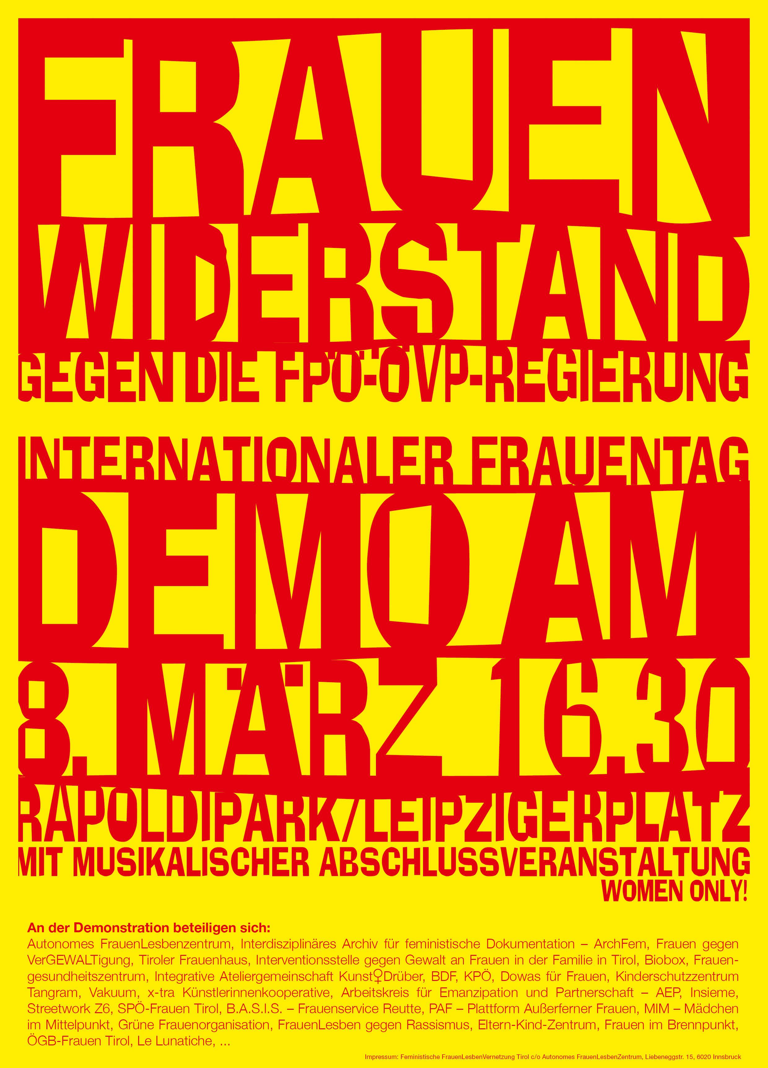 2000-03-08: Demonstration zum Internationalen Frauentag