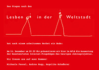 "2007-12-14: Präsentation ""Lesben in der Weltstadt"""