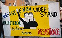 "200x: Transparent ""Resistenza Widerstand Resistencia Resistance Direniş"""